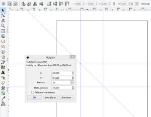 Hulplijnen exact aanpassen in Inkscape