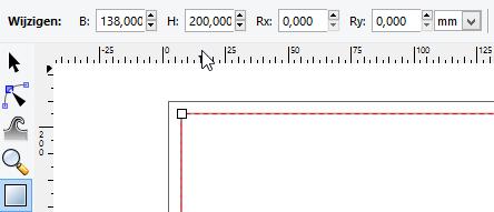 rechthoek met exacte maten