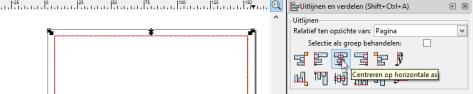 rechthoek uitlijnen op pagina