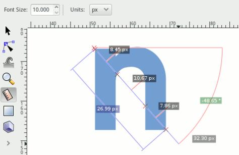 Meetlat in Inkscape 0.91